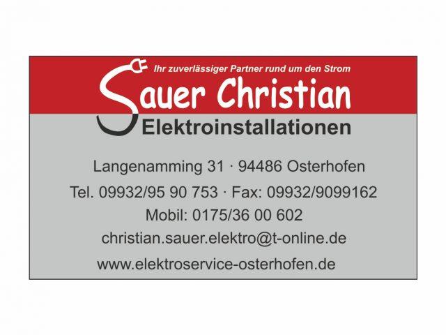 Sauer Christian Elektroinstallationen